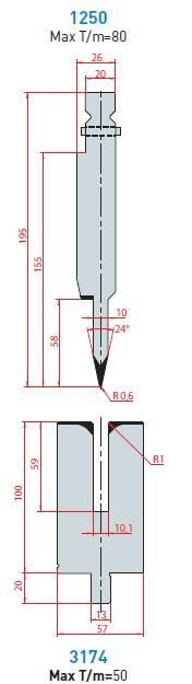 Lemovací nástroj - komplet, délka 550 mm dělený Eurostamp