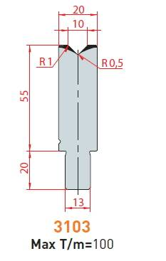 Matrice délka 500 mm z jednoho kusu