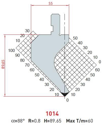 Razník - délka 835 mm Eurostamp