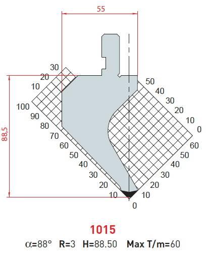 Razník -délka 835mm Eurostamp