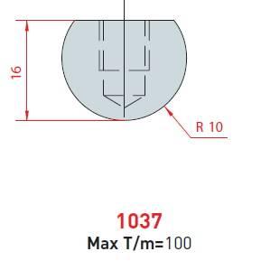 Rádiusová vložka délka 835 mm nitridovaná Eurostamp