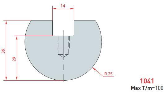 Rádiusová vložka délka 415 mm nitridovaná Eurostamp