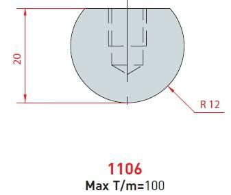 Rádiusová vložka délka 835 mm z jednoho kusu Eurostamp