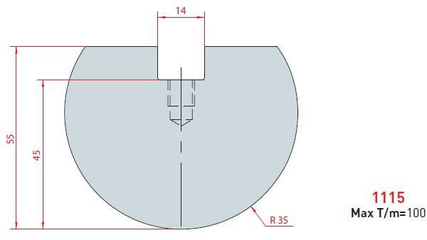 Rádiusová vložka délka 835 mm Eurostamp