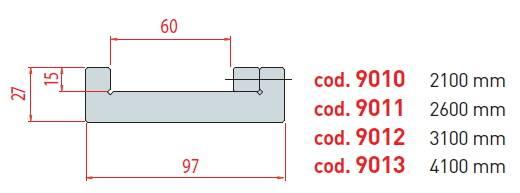Držák matric pro systém Amada délka 2600 mm Eurostamp