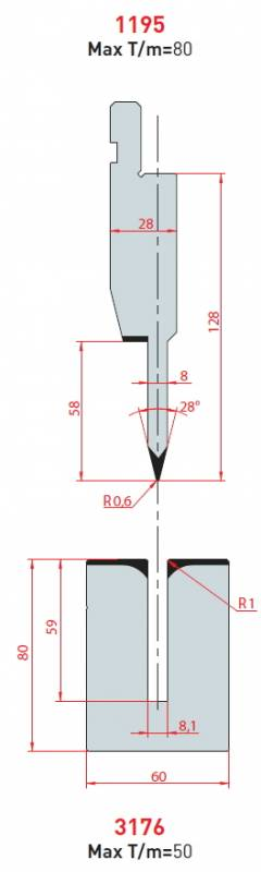 Lemovací nástroj - komplet, délka 805 mm dělený Eurostamp