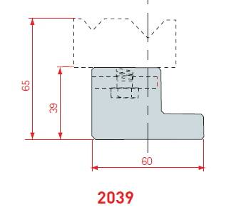 Držák 2V matric délka 835 mm Eurostamp