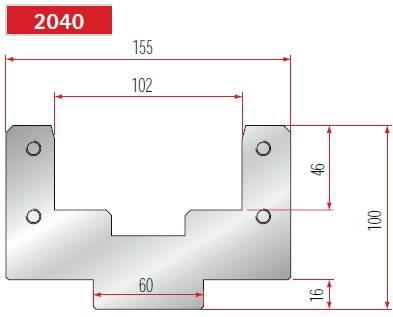 Držák polyuretanové vložky délka 835 mm Eurostamp