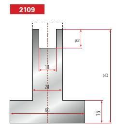 Držák nylonové vložky délka 805 mm dělený Eurostamp
