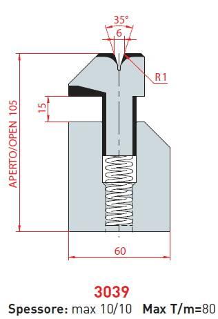 Lemovací matrice délka 835 mm Eurostamp