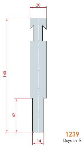 Držák rádiusových vložek délka 830 mm Eurostamp