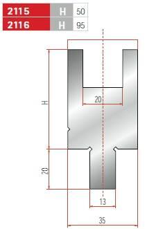 Držák nylonové vložky délka 835 mm Eurostamp