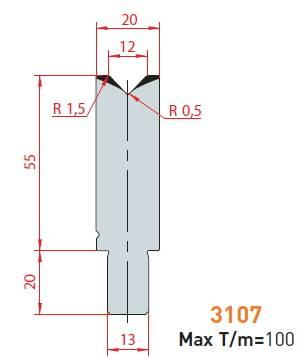 Matrice délka 1100 mm dělená Eurostamp