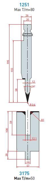 Lemovací nástroj - komplet, délka 550 mm dělený