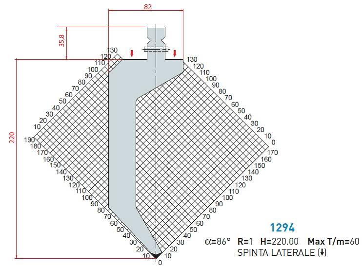 Razník 1294 délka 550 mm dělený s kolíky Eurostamp