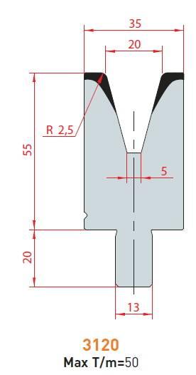 Matrice délka 1000 mm z jednoho kusu Eurostamp