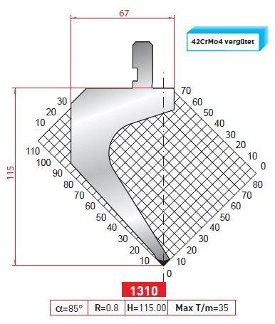 Razník -délka 415 z jednoho kusu