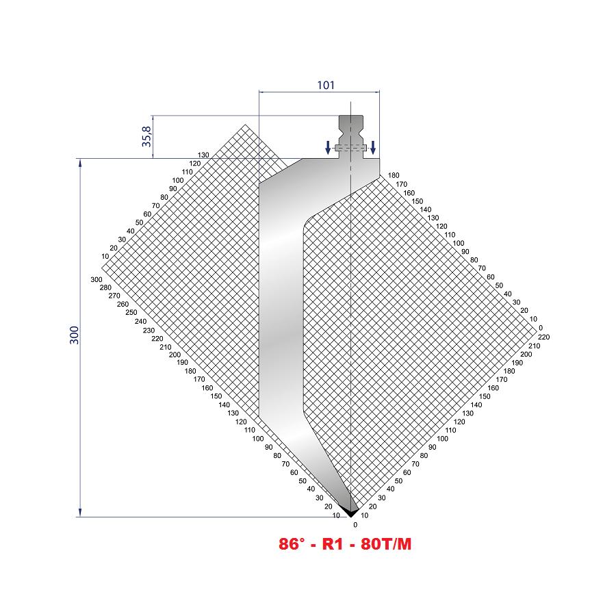Razník délka 200 mm z jednoho kusu s kolíky Eurostamp