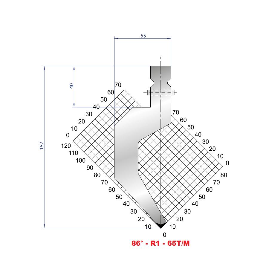 Razník - délka 550 mm dělený s kolíky Eurostamp