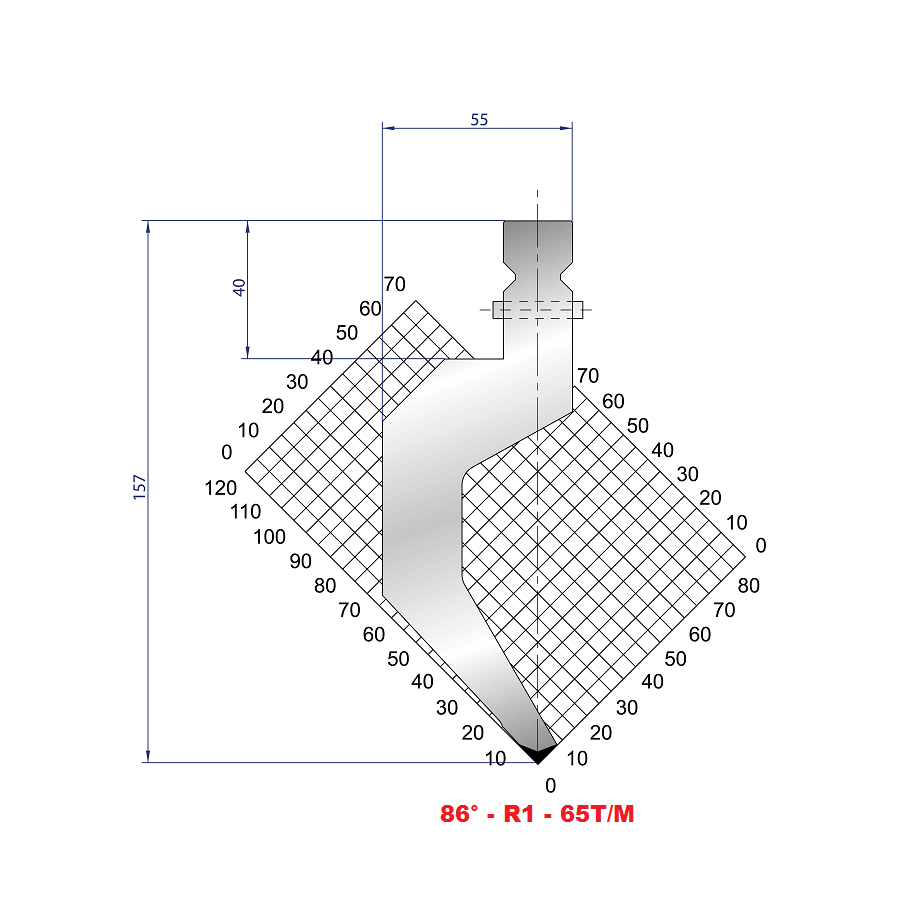 Razník - délka 550 mm dělený s rychloupínáním Eurostamp
