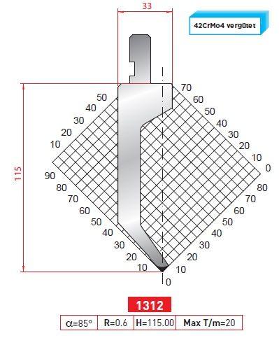 Razník -délka 835 z jednoho kusu Eurostamp