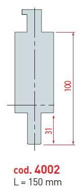 Mezikus - retrofiting délka 150 mm; pro specifikaci upínací části kontaktujte prodejce Eurostamp