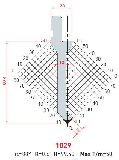 Razník -délka 415mm Eurostamp