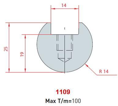 Rádiusová vložka délka 415 mm Eurostamp