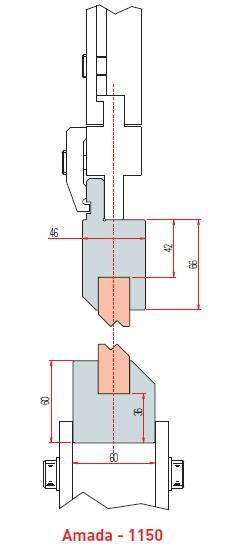 Držák Z vložek délka 415 mm Eurostamp