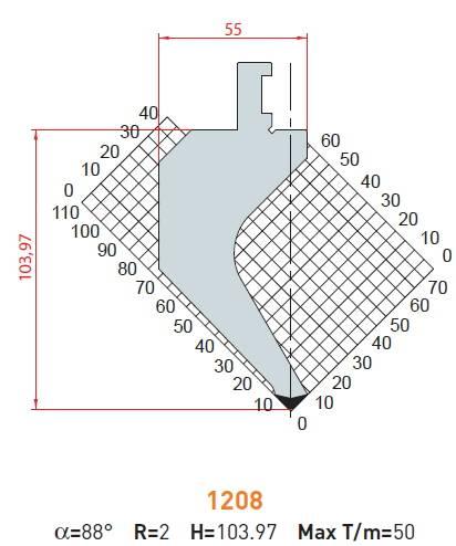 Razník - délka 500 mm z jednoho kusu Eurostamp