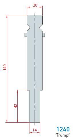 Držák rádiusových vložek délka 415 mm Eurostamp