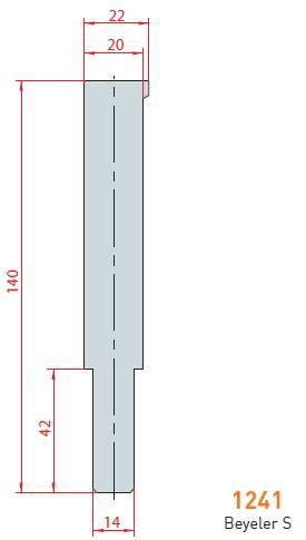 Držák rádiusových vložek délka 410 mm Eurostamp