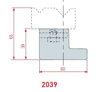 Držák 2V matric délka 415 mm Eurostamp