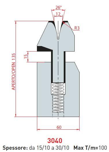 Lemovací matrice délka 415 mm Eurostamp