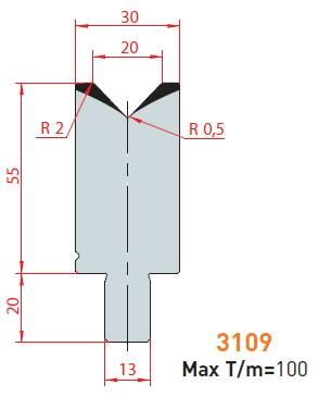 Matrice délka 500 mm z jednoho kusu Eurostamp