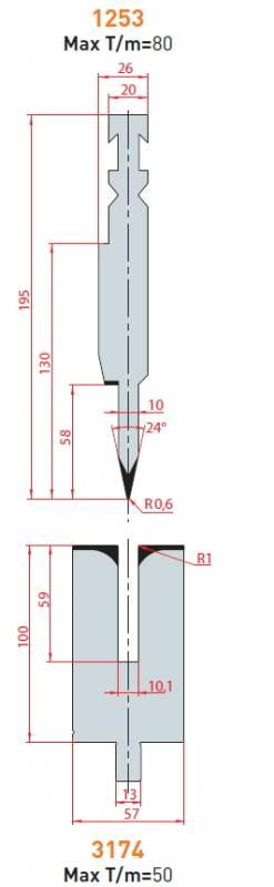 Lemovací nástroj - komplet, délka 500 mm Eurostamp