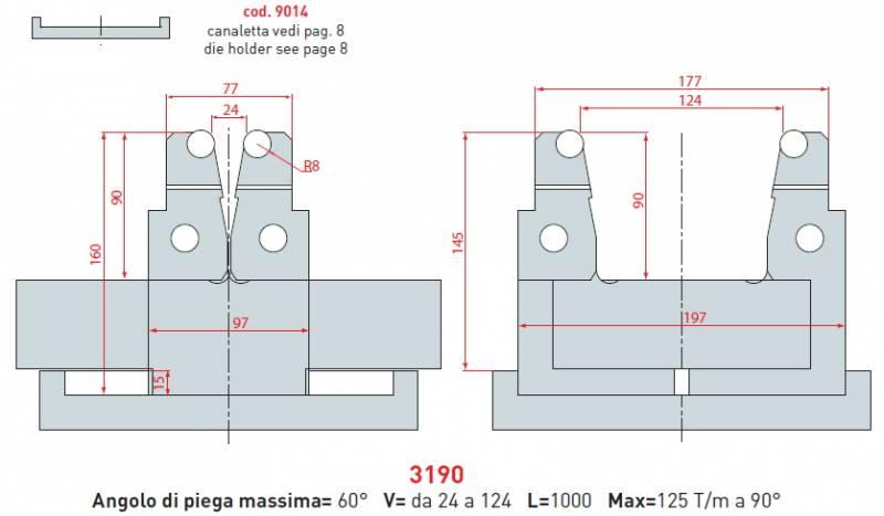 Stavitelná matrice délka 1000mm
