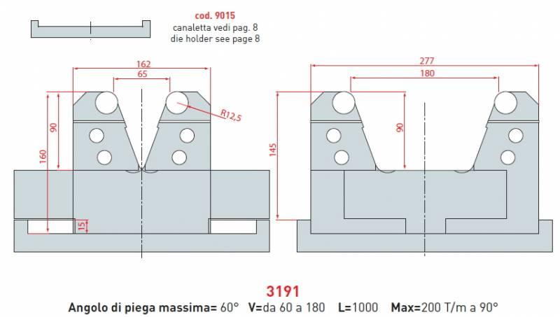 Stavitelná matrice délka 1000mm Eurostamp