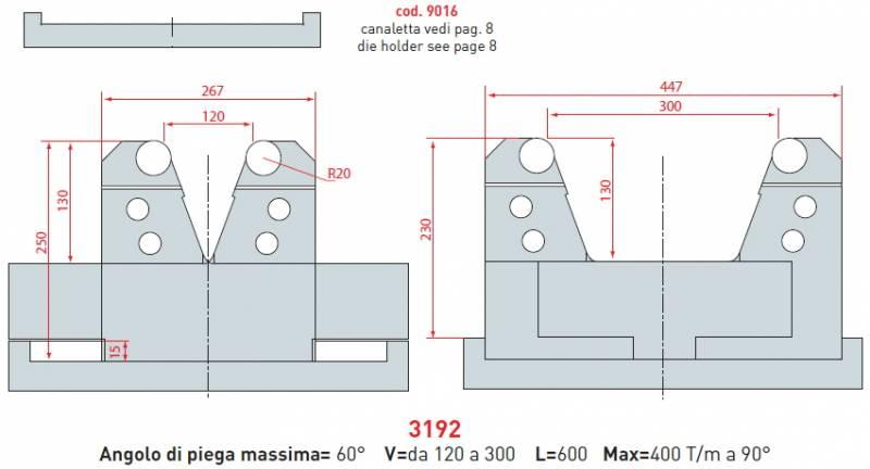Stavitelná matrice délka 600 mm Eurostamp