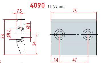 Upínka délka 75 mm Eurostamp