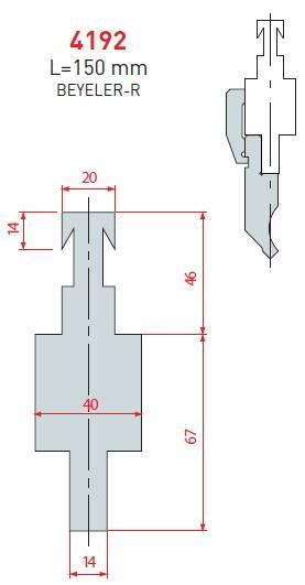 Adaptér Beyeler délka 150 mm Eurostamp