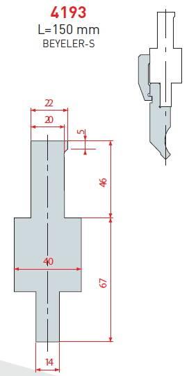 Adaptér Beyeler-S délka 150 mm Eurostamp