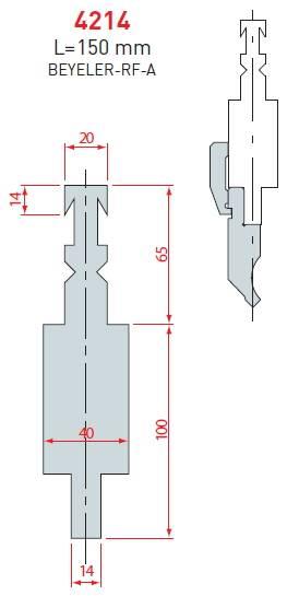Adaptér Beyeler-RF-A délka 150 mm Eurostamp
