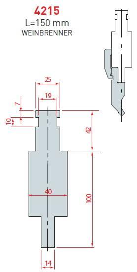Adaptér Weinbrener délka 150 mm