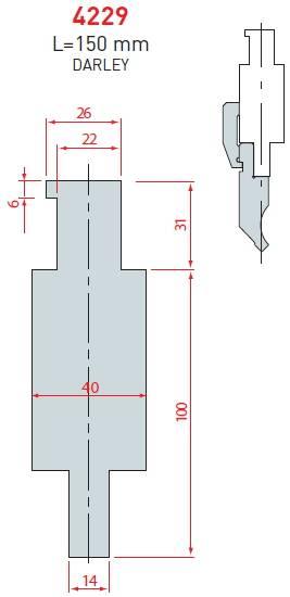 Adaptér Darley délka 150 mm Eurostamp