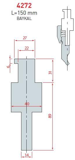 Adaptér Baykal délka 150 mm Eurostamp