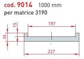 adaptér matrice - délka 1000 mm pro matrici 3192; cena na dotaz Eurostamp