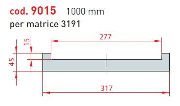 adaptér matrice - délka 1000 mm pro matrici 3190; cena na dotaz Eurostamp