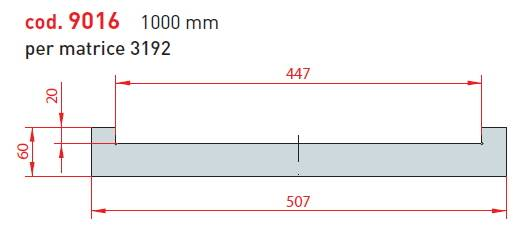 adaptér matrice - délka 1000 mm pro matrici 3191; cena na dotaz Eurostamp